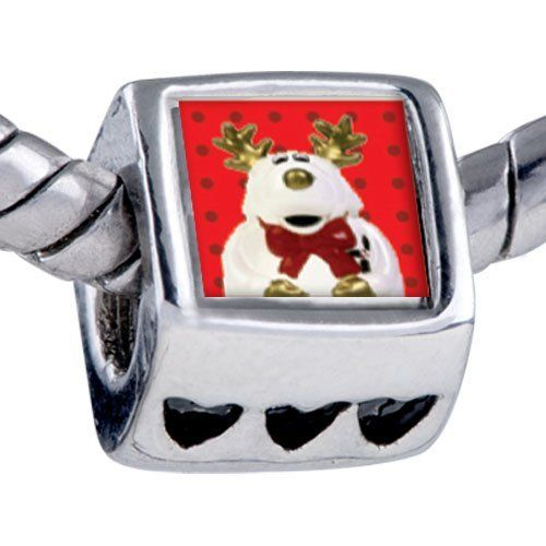 Pugster Bead Reindeer Stuffed Animal Beads Fits Pandora Bracelet Pugster. $12.49. Hole size is approximately 4.8 to 5mm. It's the photo on the heart charm. Unthreaded European story bracelet design. Fit Pandora, Biagi, and Chamilia Charm Bead Bracelets. Bracelet sold separately