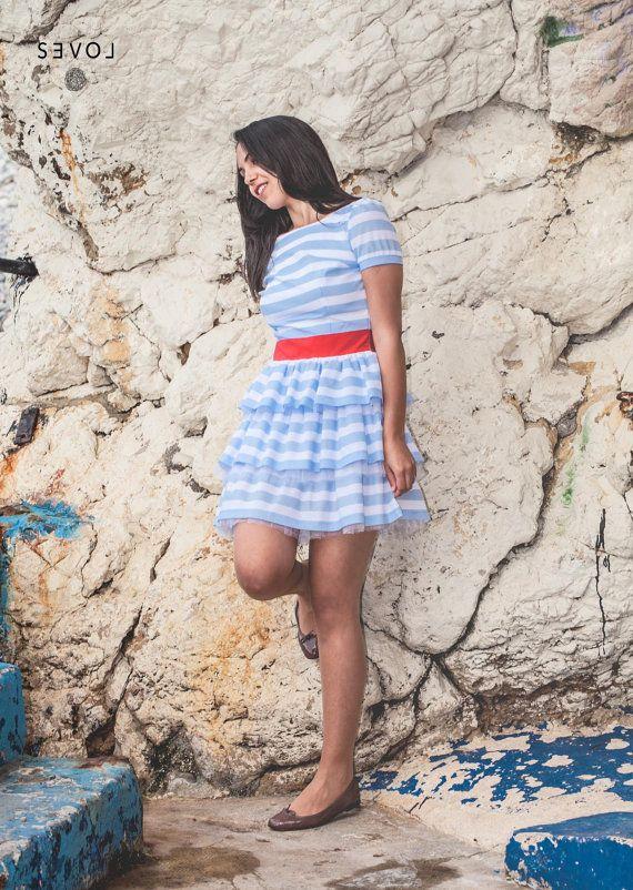 Dress Fleur de Sel / striped dress / 50s dress /