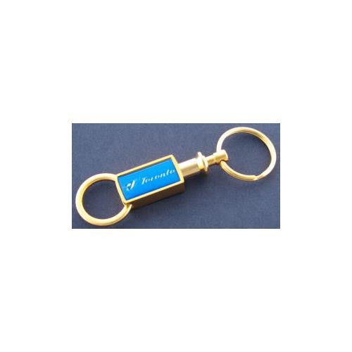 Toronto Blue Jays Gold Tone Valet Keychain - Sunset Key Chains
