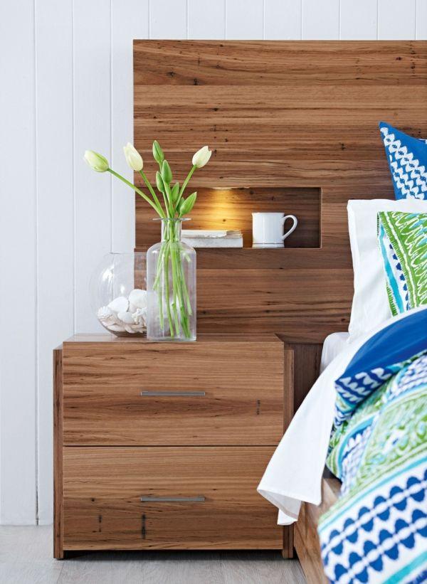 La t te de lit avec rangement un gain d 39 espace d co - Housse de coussin 65 65 ...