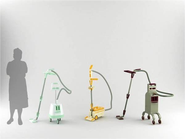 Senior friendly vacuum cleaner by Michou Vasilis, via Behance