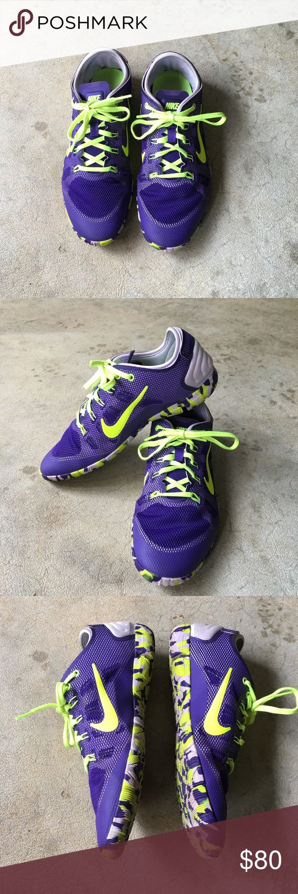 Nike tennis shoes Nike purple trainers, perfect condition, only worn a few times. Very comfortable and great for working out in. Nike Shoes