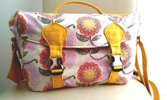 SPECIAL PRICE  Sunshine Flowers Large Camera Bag // by SewSofia