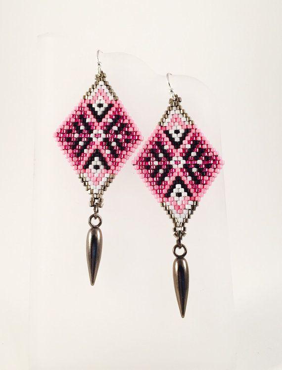 The Rosette Seed Beaded Earrings