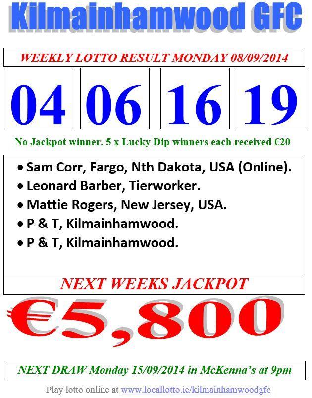 lotto trekning 16 september