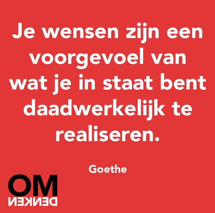 Citaten Goethe : Images about omdenken on pinterest me