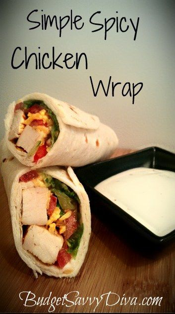 Spicy Chicken Wrap: Chicken Wraps, Fun Recipes, Simple Spicy, Lunches, Easy Lunch Ideas, Food, Chicken Wrap Recipes, Spicy Chicken