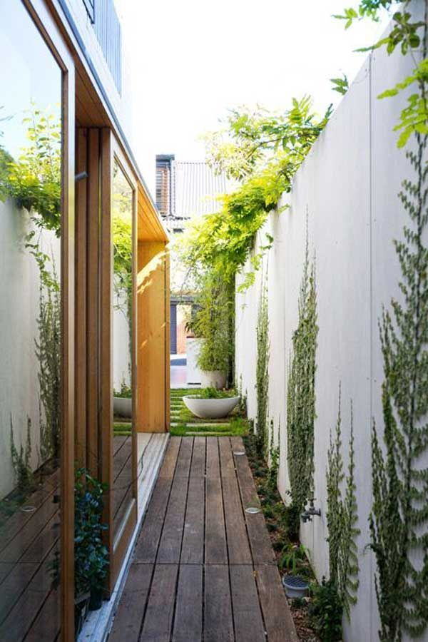 25 best ideas about narrow garden on pinterest small for Courtyard landscaping ottawa