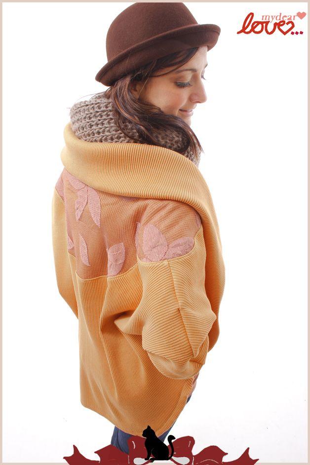 """Coprispalle & Bolerini - Cardigan """"Hannah"""" - Knit giallo arancione senape, - un prodotto unico di mydearlove su DaWanda"""