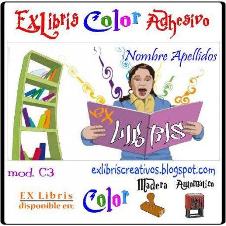 #EXlibrisColor Lectora asombrada Referencia  C003 Qué cosa tan asombroso es un libro! Un objeto plano que se hace con un árbol, y tiene esas partes flexibles sobre las cuales están impresos un montón de garabatos raros.... ¡Diseño disponible en sello de caucho! (w033) EXLibris Creativos Color es la manera más original y divertida de personalizar tus #libros y #comics!!  ¡¡Visita nuestra web http://exlibriscreativos.es y déjate sorprender!! #ComparteCultura #RegalaEXlibris…