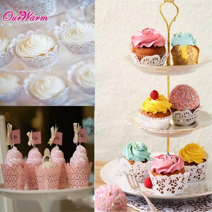 120Pcs White Cloud Hollow Out Cake Paper Wrap Cupcake - Wedding Look