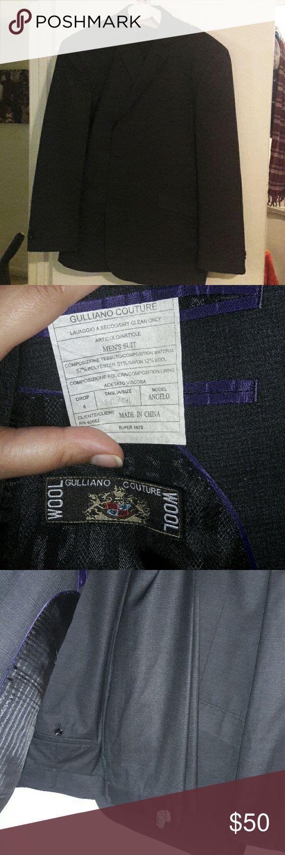 Men's pant suit size 54L/49L Black men's pant suit size 54L/49L Gulliano Couture Suits & Blazers Suits
