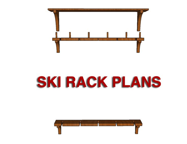 Learn how to build a wood DIY Ski Rack with free plans, project photos, and a detailed tutorial. A great way to organize skis and boots in any garage!