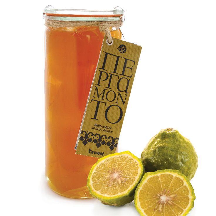 Γλυκό του κουταλιού Περγαμόντο χωρίς γλουτένη. Από ελληνικούς καρπούς, σε επώνυμο βάζο ανώτερης ποιότητας κατάλληλο και για οικιακή χρήση. | Βergamot spoon sweet, with greek fruits. Gluten free.