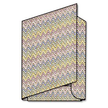 """Carpetta a 3 lembi in carta Tassotti  """"Zig zag multicolore"""" - Folder with 3 flaps in Tassotti paper Zig Zag multicolor"""