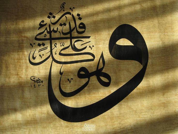 """""""Ve hüve ala külli şey'in Kadîr (Allah her şeye kadirdir)""""  Mithat Topaç"""