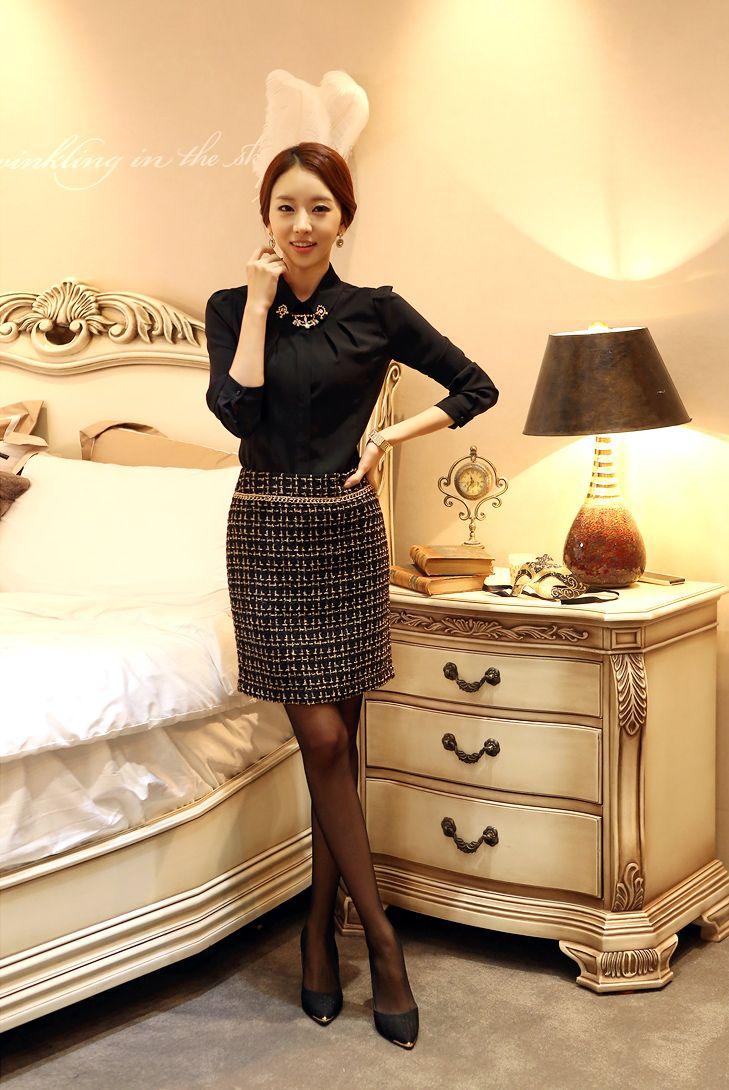 345 best images about moda coreana on pinterest - Modelos de faldas de moda ...
