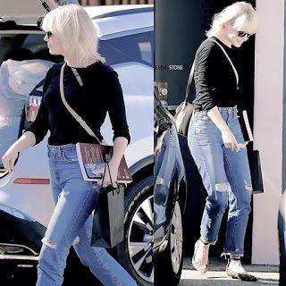 海外セレブニュース&ファッションスナップ: 【エマ・ストーン】久しぶりの明るい髪色!ビバリーヒルズのサロンでプラチナブロンドにチェンジ!