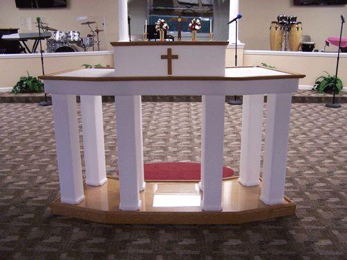 Church Pulpit Furniture com Acrylic