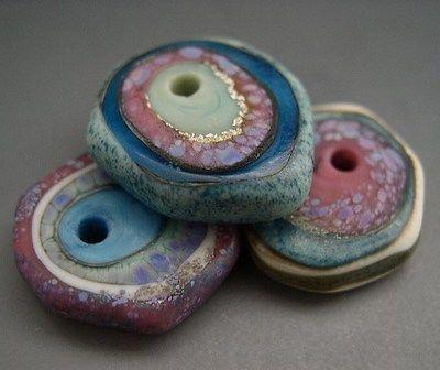 Naos - Kandinsky Disks - Handmade Lampwork Beads