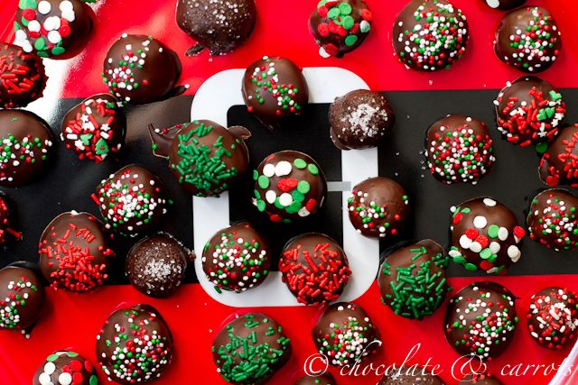 Christmas brownie truffles