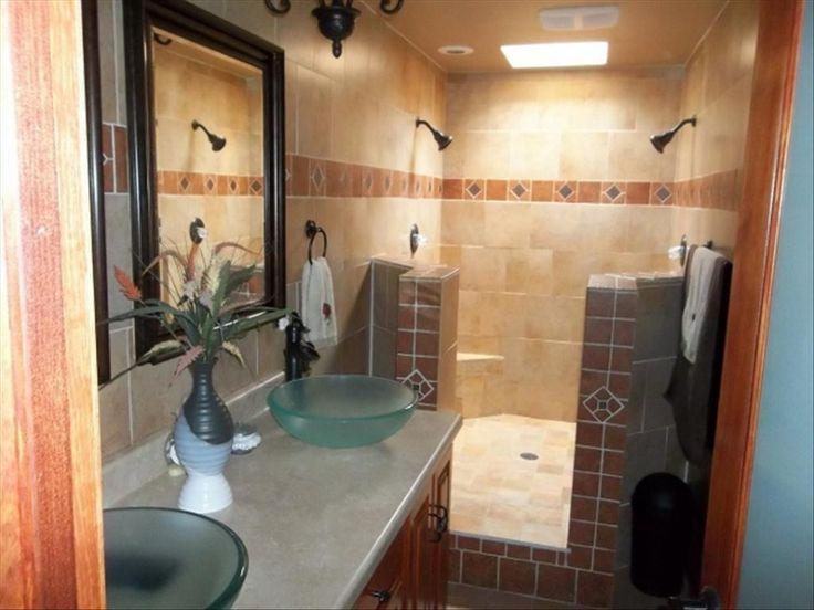 Southwestern Master Bathroom with Raised panel, Limestone, Flush, Vessel sink, Limestone counters, Master bathroom, Skylight