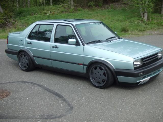 4. 1990 Jetta GLI Calypso Green. (This one sat in storage while we were in Alaska for 8 months. We are kicking ourselves for selling it when we got home. Very rare car and we WISH we would have kept it.)
