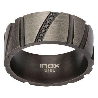 Milano Jewelers - Gun Metal Grey Stainless Steel Ring
