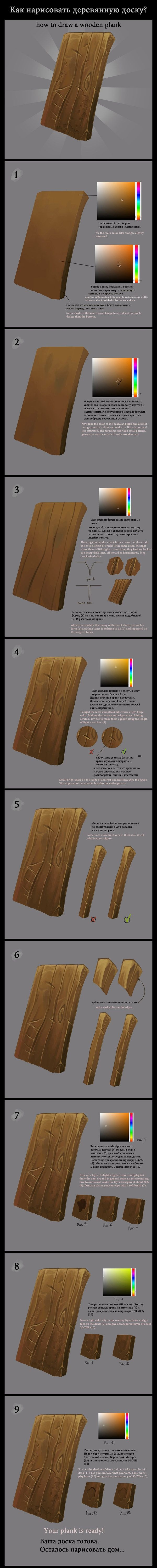 How to draw wooden plank? by ~Gimaldinov. Use this as an example of a wooden wall(s) or maybe a sheild?