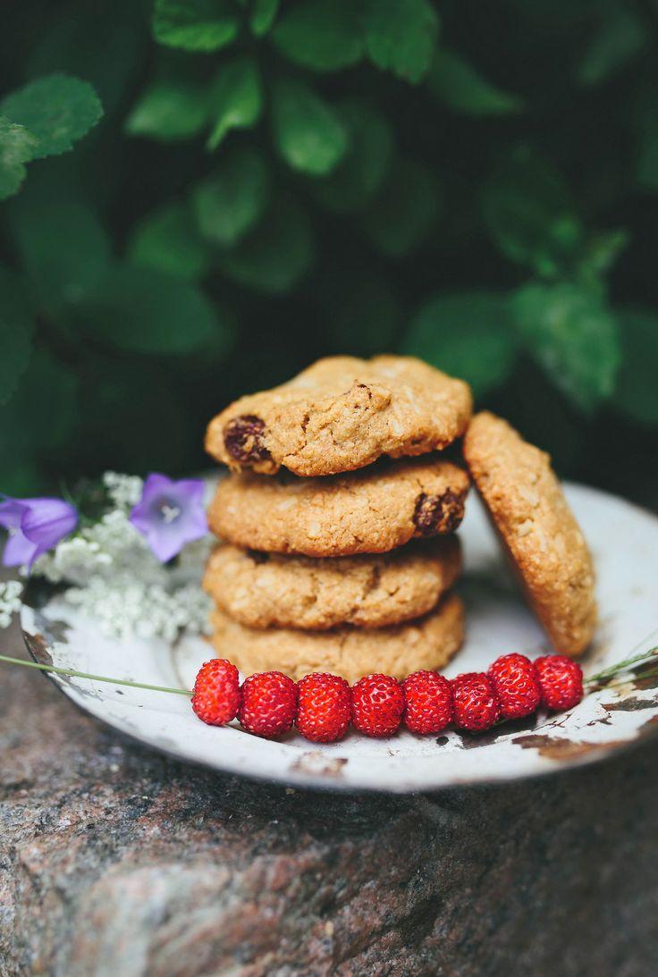 Coconut Oat Cookies / Havre- & Kokoskakor - Evelinas Ekologiska