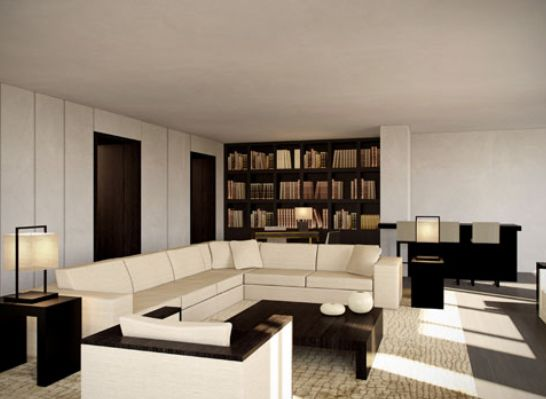 Living room by armani casa