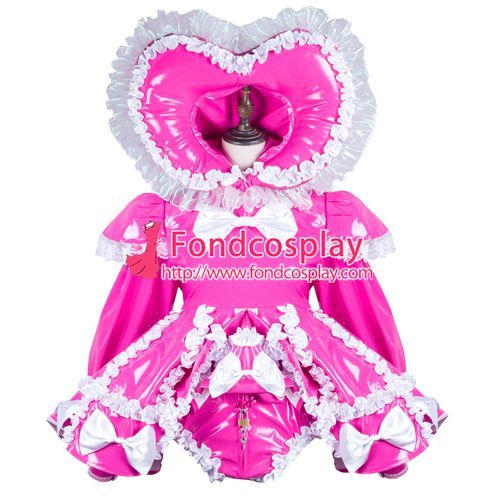 Sissy maid pvc dress lockable Uniform cosplay costume Tailor-made[G3728]