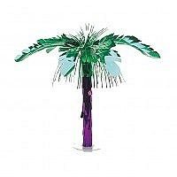 Palm Tree Centerpiece  What better way to decorate your table for A Luau Party then with this fantastic Beach Theme Centrepiece. Add some island pizzazz to your tropical event with this metallic palm tree centrepiece.