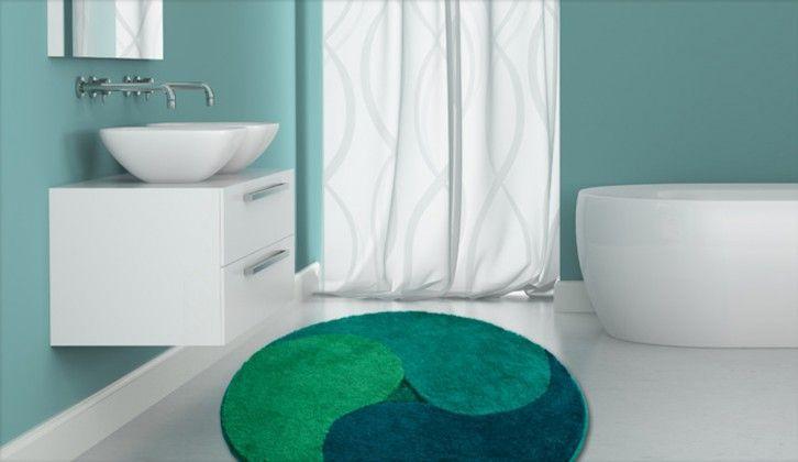 Aum - Předložka kruh, 100 cm (zelená-smaragdová-petrolejová)