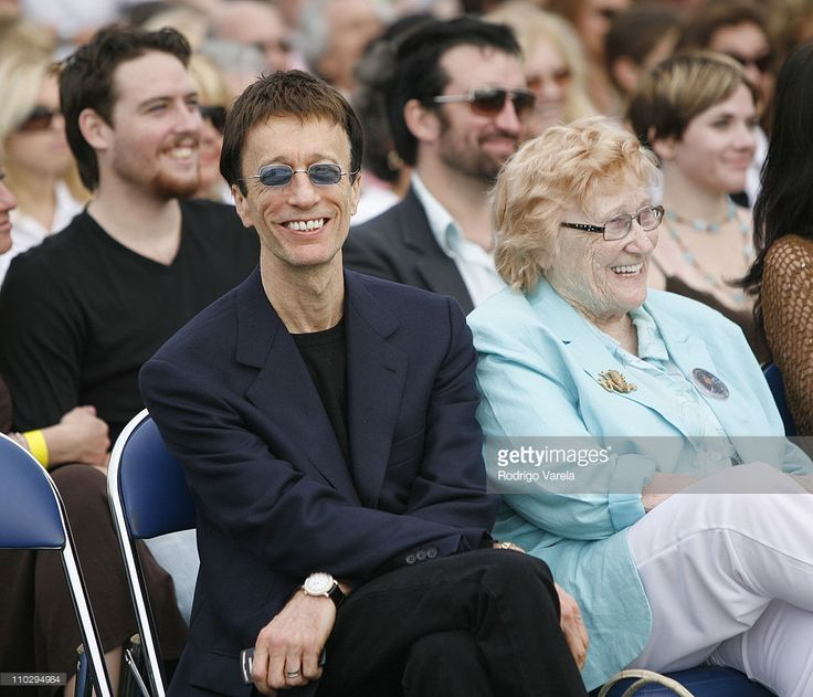 Robin Gibb and Barbara Gibb during Maurice Gibb Memorial Unveiling at Maurice Gibb Memorial Park in Miami Beach, Florida, United States.