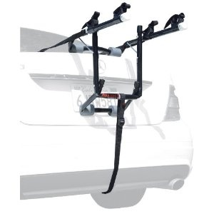 Allen Deluxe 2-Bike Trunk Mount Rack --- http://www.amazon.com/Allen-Deluxe-2-Bike-Trunk-Mount/dp/B000ELUXFC/?tag=urbanga-20