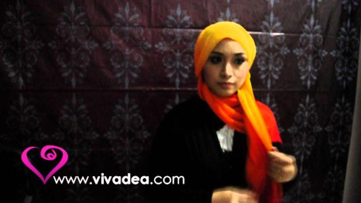 Hijab tutorial inspired by Hana Tajima - vivadea  cara pakai shawl yuna