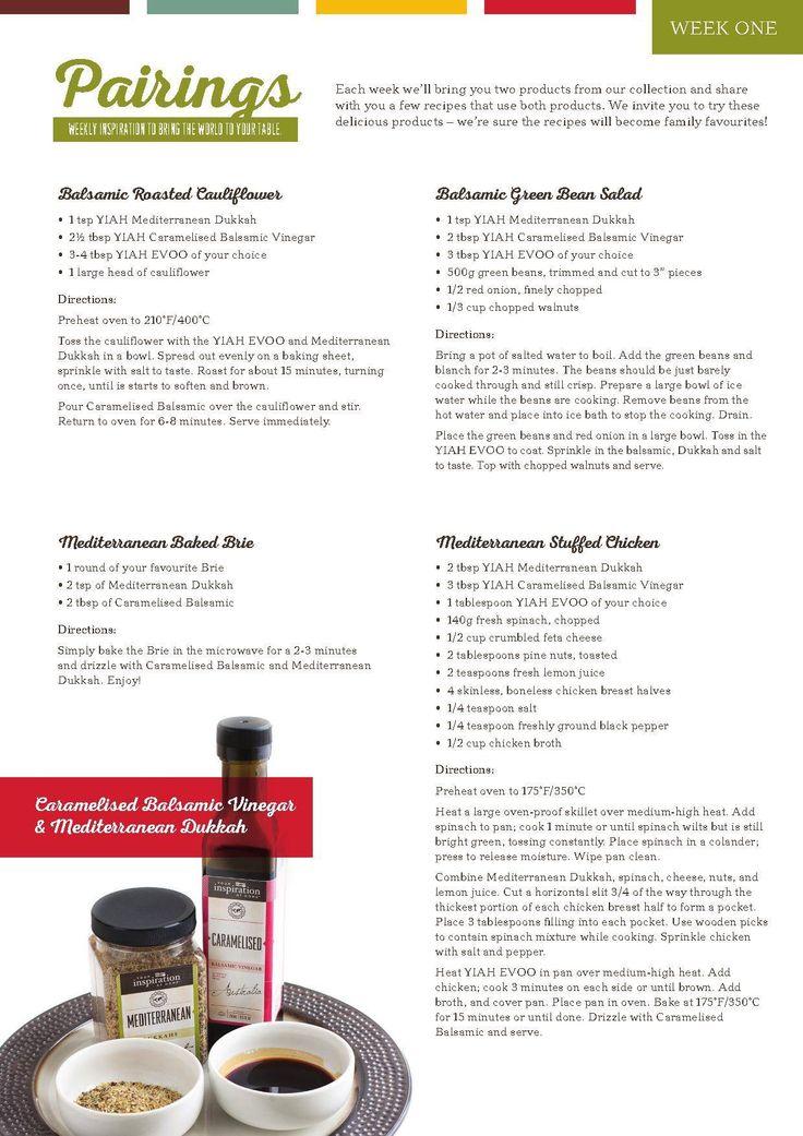 Yiah Caramelised balsamic vinegar and Mediterranean Dukkah recipes ideas www.facebook.com/Alyssa.ryan.yiah http://alyssaryan.yourinspirationathome.com.au