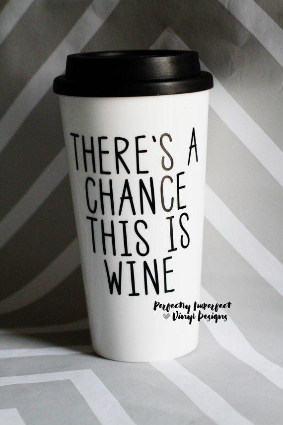 Koffie Tumbler / / To-Go koffiekopje / / door PerfectlyVinylDesign