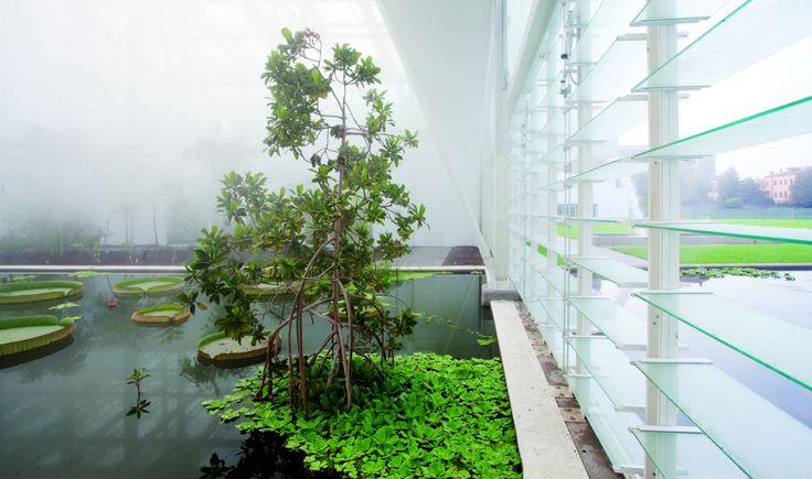 イタリアの最新「生物多様性植物園」:建築、iBeacon