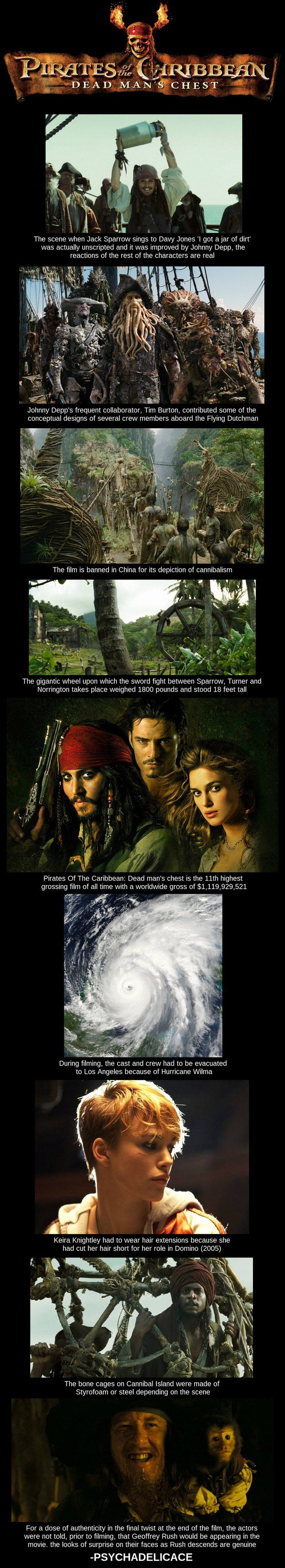 Pirates of the Caribbean Facts. THAT LAST ONE IS SO AWESOME OMG!
