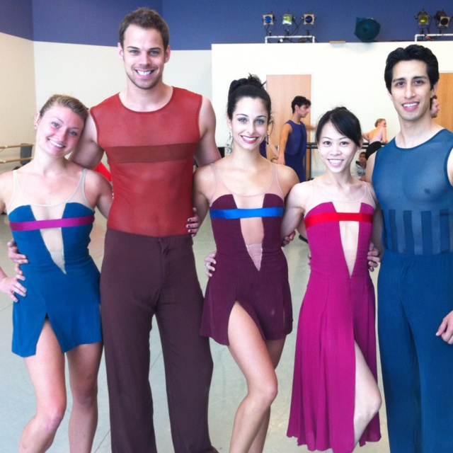 Dancers before a run of Christopher Wheeldon's RUSH.Wheeldon Rush, Christopher Wheeldon