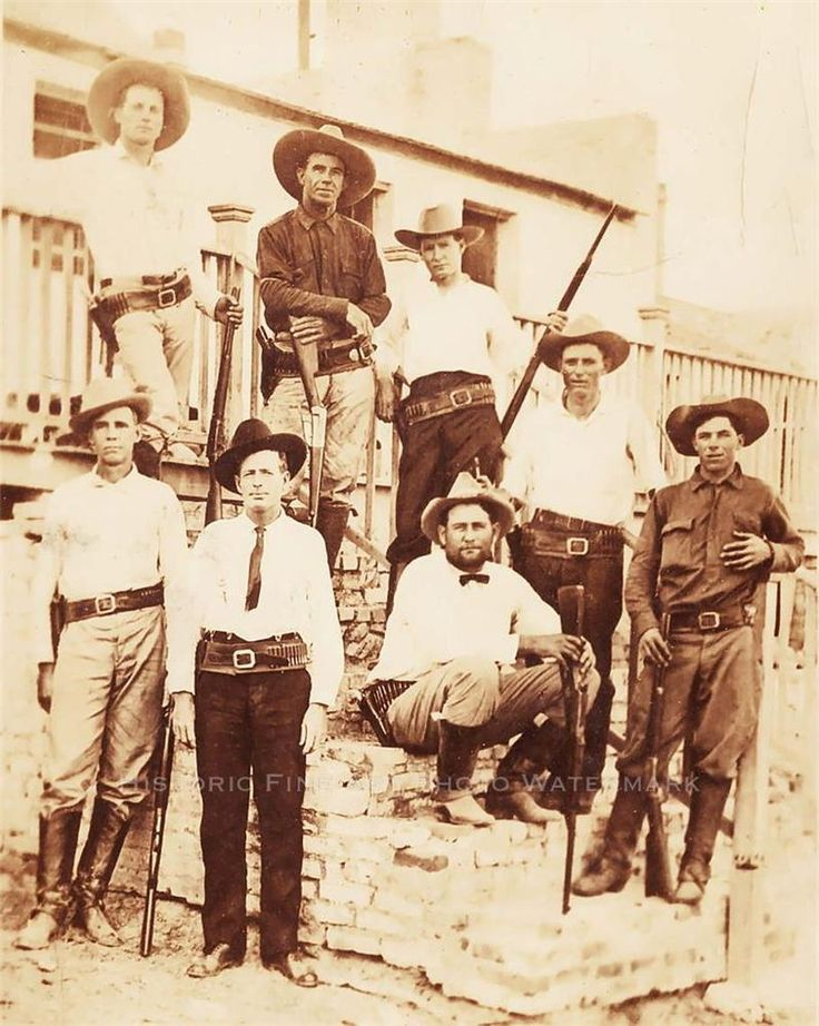 Texas Rangers Heavily Armed Lawmen Vintage Photo Old West