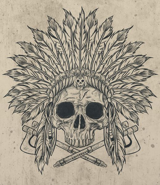 Indian Skull Print