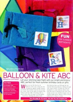Balloon & Kite ABC The World of Cross Stitching Issue 139 July 2008  Saved