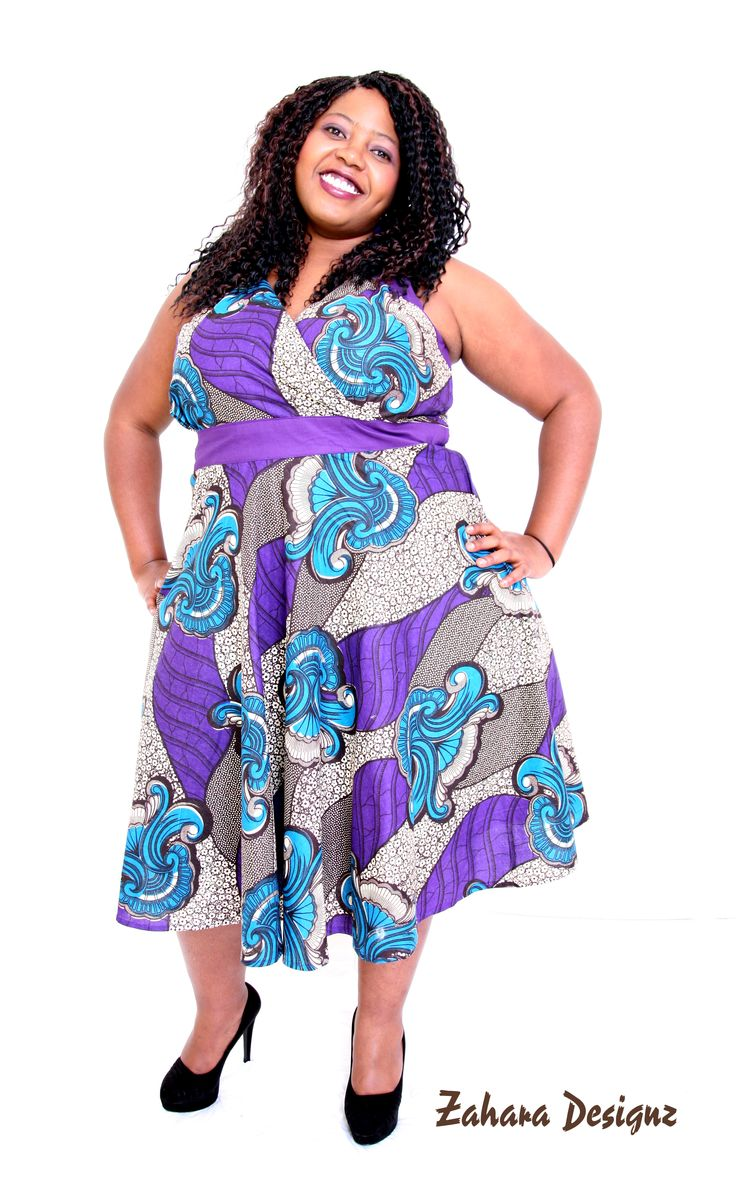 Purple African shirt dress. This dress is available in different sizes.