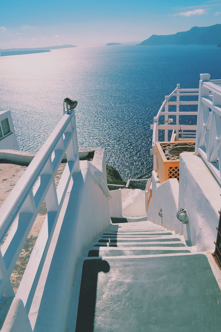Steps to blue, Akrotiri, Santorini