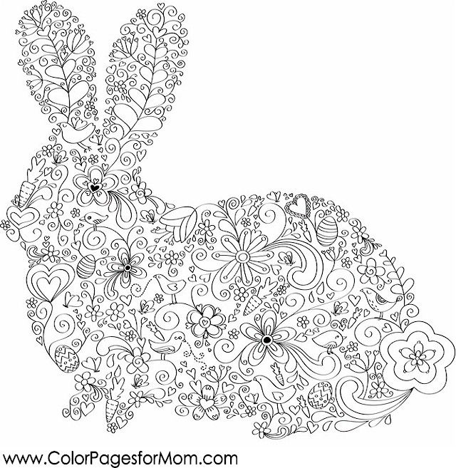 Animal Bunny Coloring Page 10