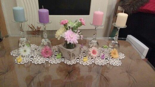 Tavaszi díszlet pohárból