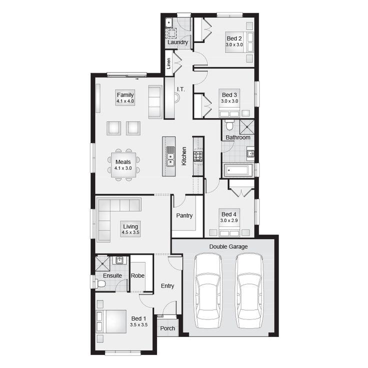Lyndhurst 21 || Floor Plan - 192.10sqm, 11.30m width, 20.50m depth || Clarendon Homes Floor Plans